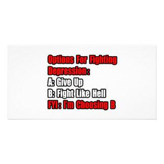 Depression Fighting Options Photo Card