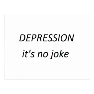 Depression it's no joke postcard