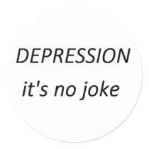 Depression it's no joke Stickers