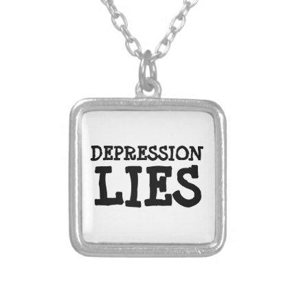 depression lies (see description) personalized necklace