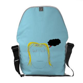Depression - Original Art Messenger Bag