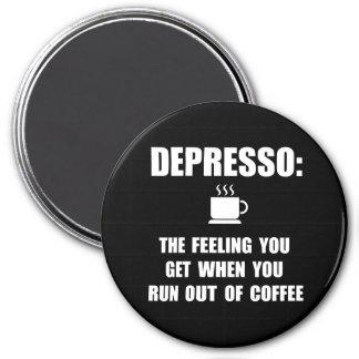 Depresso Coffee 3 Inch Round Magnet