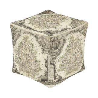 Dept Any Dordeogne Cube Pouf