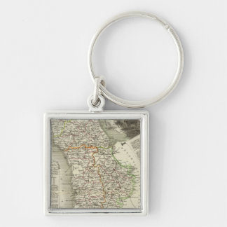 Dept Any Sleeve Silver-Colored Square Keychain