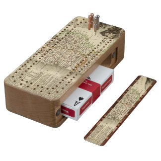 Dept Any Sleeve Wood Cribbage Board