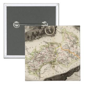 Dept De Hautes Alpes Pinback Button
