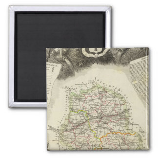 Dept D'Indre and Dormouse 2 Inch Square Magnet
