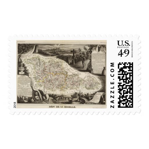 Dept. of Moselle Postage Stamp