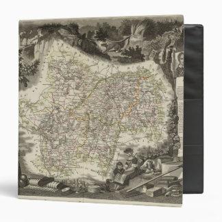 Dept of Saone et Loire 3 Ring Binder