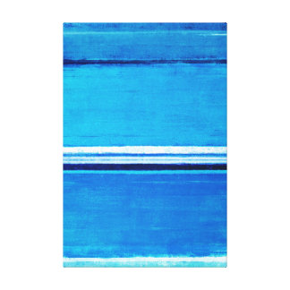 'Depth' Blue Abstract Art Canvas Print