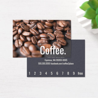 Depth Coffee Beans Simple Oswald Punch-Card Business Card