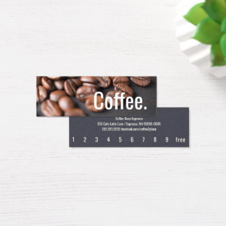 Depth Coffee Beans Simple Oswald Punch-Card Mini Business Card
