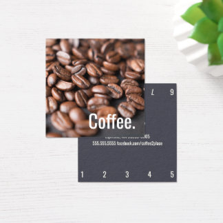 Depth Coffee Beans Simple Oswald Punch-Card Square Business Card