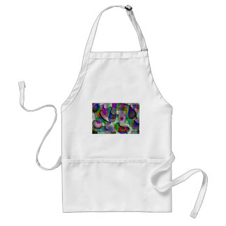 Depth, layers, pattern in colors aprons