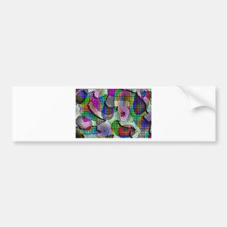 Depth, layers, pattern in colors bumper sticker