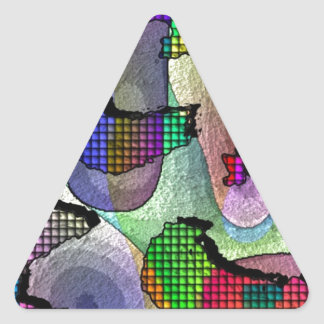 Depth, layers, pattern in colors triangle sticker