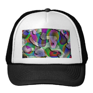 Depth, layers, pattern in colors trucker hats