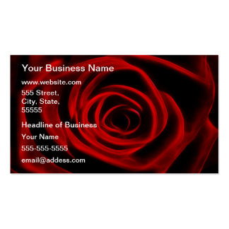 Depth of love red rose business card template
