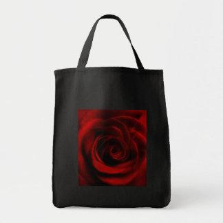 Depth of love red rose tote bag