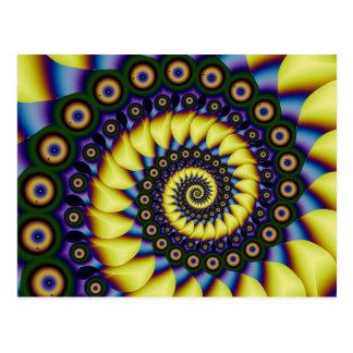 Depth Perception Cool Abstract Fine Fractal Postcard