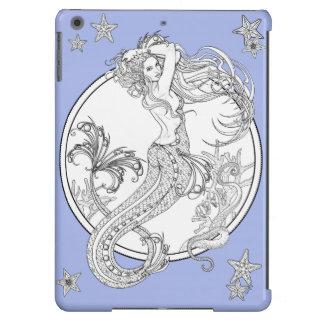 Depths: DIY Adult Coloring Mermaid by Sonja A.S. iPad Air Cases