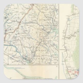 Depts militares del lavado, Penn, Annapolis, NE Va Pegatina Cuadrada
