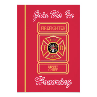 Deputy Chief Firefighter Retirement Invitation