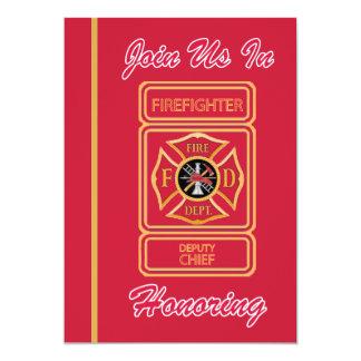 Deputy Chief Firefighter Retirement Invitation