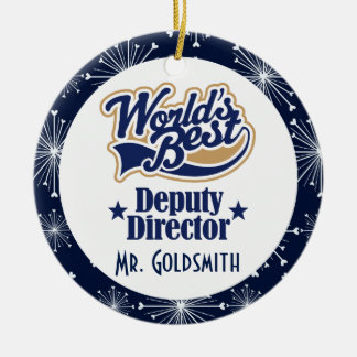 Deputy Director Personalized Gift Ornament