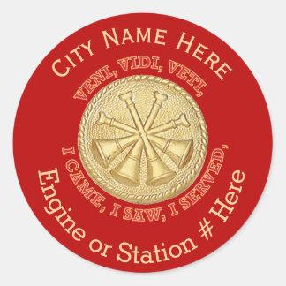 Deputy Fire Chief Medallion Classic Round Sticker