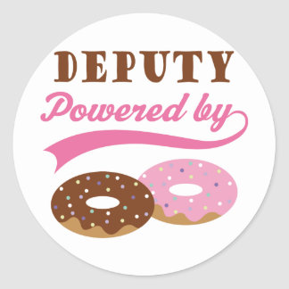 Deputy Funny Gift Round Stickers