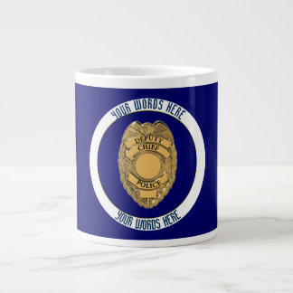 Deputy Police Chief Badge Custom Large Coffee Mug
