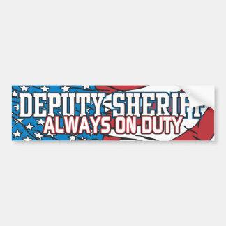 Deputy Sheriff Always on Duty Bumper Sticker