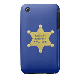 Deputy Sheriff Badge Custom iPhone 3 Cases