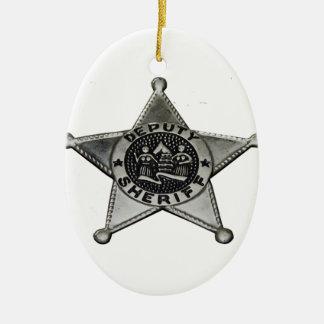 Deputy Sheriff Ceramic Ornament
