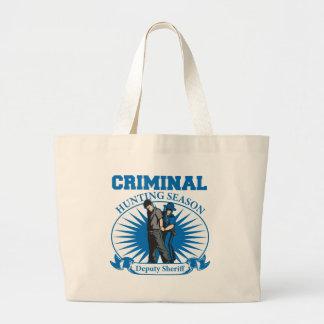 Deputy Sheriff Criminal Hunting Season Large Tote Bag