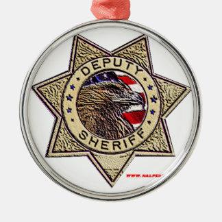 Deputy_Sheriff_emboss Metal Ornament