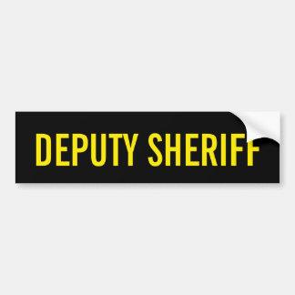 DEPUTY SHERIFF - Golden Yellow Logo Emblem Bumper Sticker