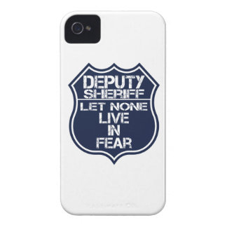 Deputy Sheriff Let None Live In Fear Motto Case-Mate iPhone 4 Case