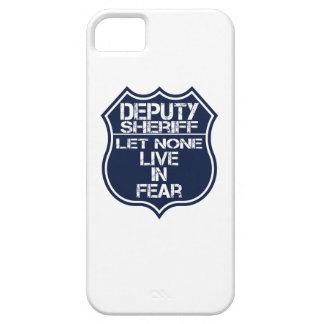 Deputy Sheriff Let None Live In Fear Motto iPhone SE/5/5s Case