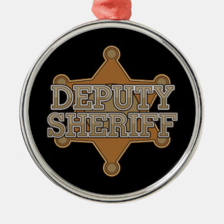 Deputy Sheriff Metal Ornament