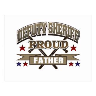 Deputy Sheriff Proud Father Postcard