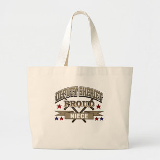 Deputy Sheriff Proud Niece Large Tote Bag