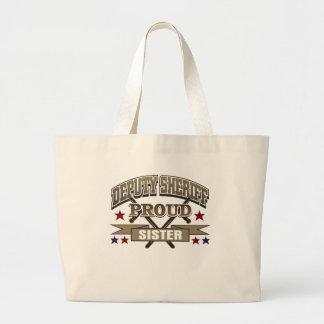 Deputy Sheriff Proud Sister Canvas Bags