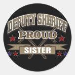 Deputy Sheriff Proud Sister Classic Round Sticker