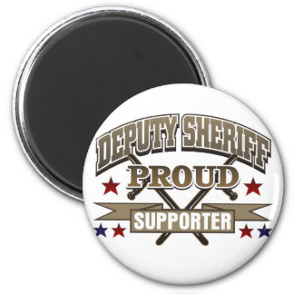 Deputy Sheriff Proud Supporter 2 Inch Round Magnet