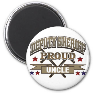 Deputy Sheriff Proud Uncle 2 Inch Round Magnet