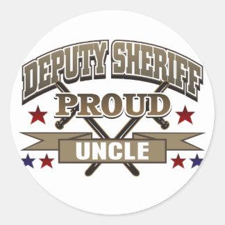 Deputy Sheriff Proud Uncle Classic Round Sticker