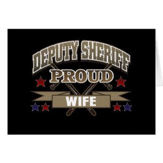 Deputy Sheriff Proud Wife Card