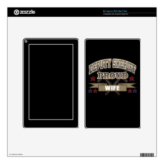 Deputy Sheriff Proud Wife Decals For Kindle Fire
